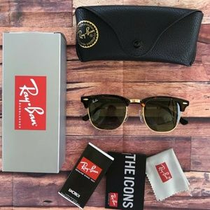 ⚠️60% OFF AUTHENTIC RAY BAN CLUBMASTER